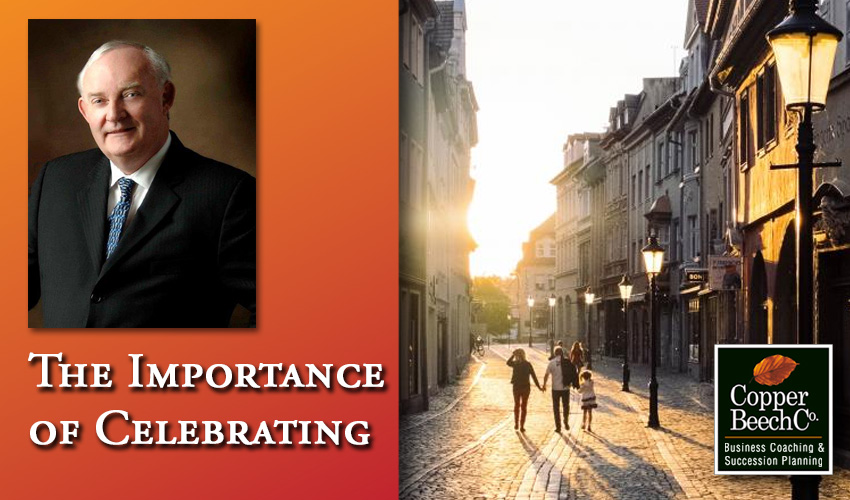The importance of celebrating